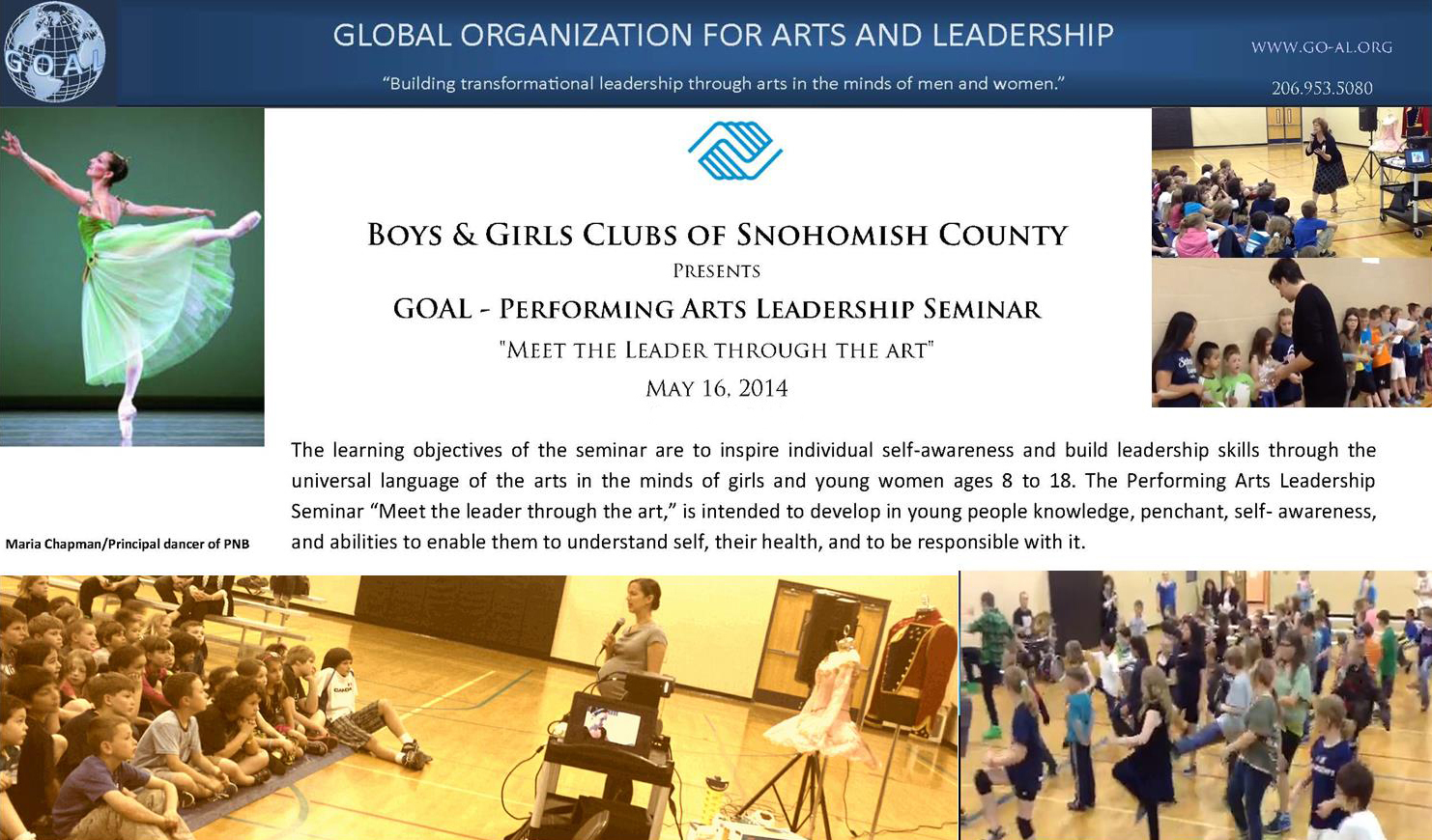 GOAL-Boys & Girls of Snohomish County Performing Arts Leadership Seminar_
